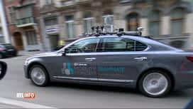 RTL INFO 13H : Une voiture autonome est testée dans les rues de Bruxelles