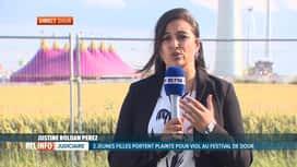 RTL INFO 19H : Le point sur l'enquête pour viol au festival de Dour