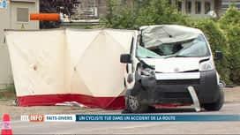RTL INFO 19H : Ampsin: un automobiliste fauche 4 cyclistes (un mort)