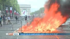 RTL INFO 19H : Vives tensions sur les Champs-Elysées entre Gilets Jaunes et policiers