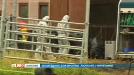 RTL INFO 19H : Un labo de métamphétamine a été découvert à Soumagne