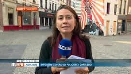 RTL INFO 19H : Déploiement policier dans le quartier du Triangle de Charleroi