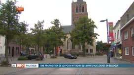 RTL INFO 19H : Ecolo et Groen veulent interdire les armes nucléaires en Belgique