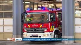 RTL INFO 19H : Les pompiers de Liège sont les plus réactifs et rapides de Belgique