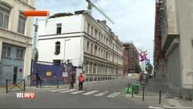 RTL INFO 19H : Un ouvrier blessé dans l'effondrement d'un immeuble à Molenbeek