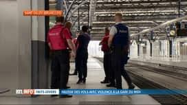 RTL INFO 13H : La police fédérale va renforcer sa présence à la gare du Midi à Bru...