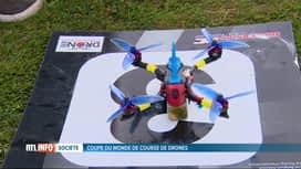 RTL INFO 13H : Une manche de la Coupe du monde de course de drones a lieu chez nous