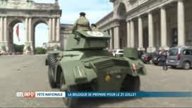 RTL INFO 19H : Fête nationale: les véhicules militaires ont pris le départ