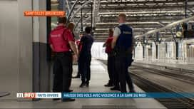 RTL INFO 19H : La police fédérale va renforcer sa présence à la gare du Midi à Bru...