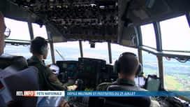 RTL INFO 19H : Une de nos équipes a participé au défilé à bord d'un C130