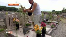 RTL INFO 13H : Les cimetières de Fontaine-l'Eveque et de Forchies en pitoyable état