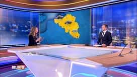 RTL INFO 13H : L'alerte jaune aux orages évoquée en plateau par Vanessa Matagne