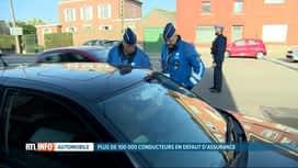 RTL INFO 13H : De plus en plus de conducteurs roulent sans assurance