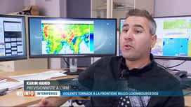 RTL INFO 13H : Explications à propos de la tornade qui a frappé Pétange