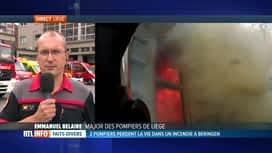 RTL INFO 13H : Les deux pompiers décédés à Beringen sans doute victimes d'un flash...