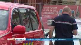 RTL INFO 13H : 2 pompiers perdent la vie dans un incendie à Beringen