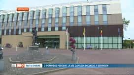 RTL INFO 19H : Pompiers décédés à Beringen: ouverture de 2 registres de condoléances