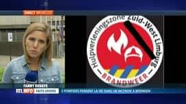 RTL INFO 19H : Pompiers décédés à Beringen: l'émoi est grand dans la profession