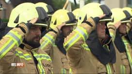RTL INFO 19H : Hommage aux deux pompiers décédés à la caserne de Beringen