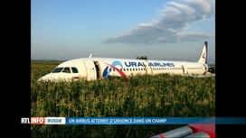 RTL INFO 19H : Russie: un Airbus se pose en urgence dans un champ de maïs, 23 blessés
