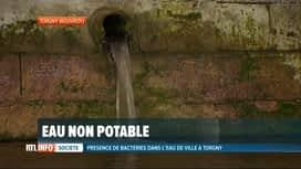 RTL INFO 13H : L'eau est toujours non potable dans le petit village de Torgny