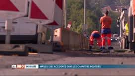 RTL INFO 19H : Les accidents dans les chantiers routiers augmentent