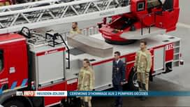 RTL INFO 13H : Funérailles des deux pompiers d'Heusden-Zolder décédés en intervention