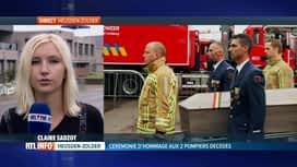 RTL INFO 13H : Ambiance très émue à la caserne de pompiers d'Heusden-Zolder