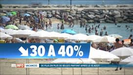 RTL INFO 13H : De plus en plus de Belges partent en vacances après le 15 août