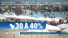 RTL INFO 19H : De plus en plus de Belges partent en vacances après le 15 août