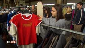 RTL INFO 13H : La vente de vêtements au kilo a le vent en poupe
