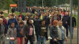 RTL INFO 19H : Beringen : un millier de personnes ont marché en hommage aux pompiers