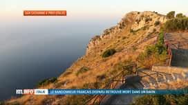 RTL INFO 13H : Disparition de Simon Gautier en Italie: son corps sans vie découvert