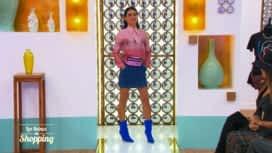 Les Reines du Shopping : Le look bleu et rose d'Anaïs... hors thème ?