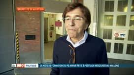RTL INFO 19H : Négociations en Wallonie: la note d'Elio Di Rupo se fait attendre