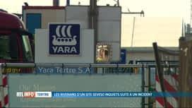 RTL INFO 19H : Une inquiétante série d'incidents à l'usine chimique Yara de Tertre