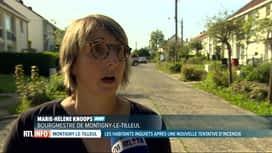 RTL INFO 13H : Un pyromane inquiète les habitants de Montigny-le-Tilleul
