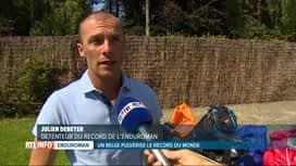 RTL INFO 19H : Julien Deneyer pulvérise le record de l'Enduroman