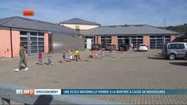 RTL INFO 13H : Pas de rentrée à l'école communale de Basse-Enhaive, à Jambes