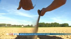 RTL INFO 13H : Un étude scientifique établit un lien entre canicule et zones sèches