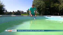 RTL INFO 19H : Comment purifier l'eau des piscines devenue toute verte ?