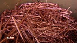 RTL INFO 19H : Que devient le cuivre des câbles volés le long des voies ferrées ?