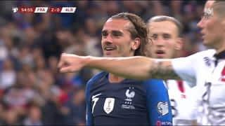 France - Albanie (53') : Grosse occasion pour Griezmann (2-0)