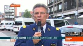 RTL INFO 19H : Contrôle de police qui tourne mal à Liège: réaction du chef de corps