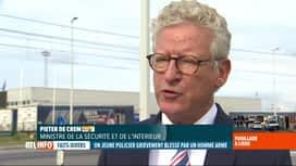 RTL INFO 19H : Contrôle de police qui tourne mal à Liège: réaction de Pieter De Crem