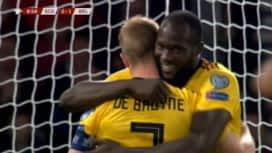 Qualification pour l'UEFA EURO 2020 : Ecosse - Belgique (09') : But de Romelu Lukaku (0-1)