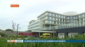 RTL INFO 19H : Les Bruxellois ont de plus en plus recours aux urgences hospitalières