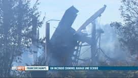RTL INFO 19H : Un incendie criminel dans une scierie de Francorchamps fait un mort