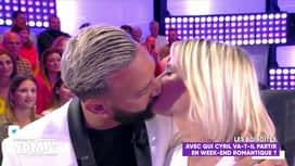 Touche pas à mon poste : Cyril embrasse Kelly Vedovelli