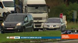 RTL INFO 19H : Accident à Nimy: la fermeture de l'E19 provoque de gros bouchons